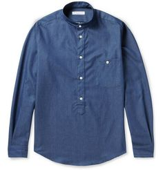 Richard James Slim-Fit Cotton-Chambray Shirt | MR PORTER