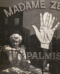 Marilyn Monroe at the palmist
