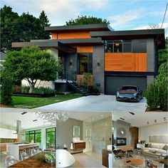 bungalow after a contemporary architectural transformation. Dream Home Design, Home Design Plans, Cool House Designs, Modern House Design, Modern Architecture House, Architecture Design, Building Design, Building A House, Modern House Plans