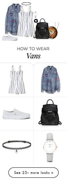 """Untitled #779"" by notyour-baby on Polyvore featuring Fortessa, Alexander Wang, Hollister Co., BERRICLE, Vans, Accessorize and CLUSE"