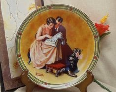 "Check out Vintage 1985 Norman Rockwell Collectors Plate,2nd Issue""Rockwell's American Dream"" Series,""A Couples Commitment"",Bradex,#VB7086 on ckdesignsforyou"