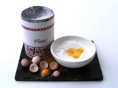 Dough making board - Miniature in 1:12 by Erzsébet Bodzás, IGMA Artisan