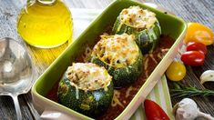 Courgettes farcies Vegetable Recipes, Zucchini, Vegetables, Pork, Meat, Bonjour, Veggies, Veggies