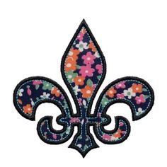 "FLEUR DE LIS Machine Embroidery Applique Design Patterns in 3 sizes 4"", 5"" and 6"""
