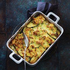 Kartoffelgratin med squash