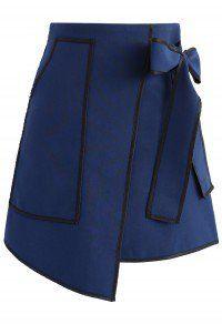 Urban Vogue Flap Skirt in Navy