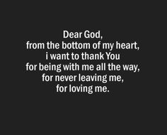 TRULY! I thank You and Love you Lord.