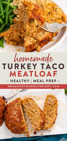 Looking for a healthy weeknight dinner recipe the whole family will love? I took all the flavors of tacos and wrapped them into a juicy scrumptious meatloaf. It's beyond delicious! It can be enjoyed it with a salad but you can certainly serve it with rice and beans or even some nachos. Organize Yourself Skinny Healthy Meal Prep Recipes   Healthy Family Dinner Recipes   Weight Loss Recipes Healthy Freezer Meals, Healthy Meals For Two, Easy Healthy Dinners, Healthy Meal Prep, Healthy Foods To Eat, Healthy Cooking, Healthy Dinner Recipes, Cooking Tips, Healthy Eating