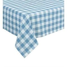 "Table Cover 54"" X 108"" Gingham Checkerboard Disposable Rectangular Plastic Table Cover -- Awesome products selected by Anna Churchill"