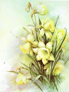 #59 Jonquils China Painting Study by Sonie Ames 1973