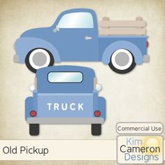 Daisies & Dimples Old Pickup CU [kimcameron_oldpickup] - Need an old pickup truck? These templates are perfect for those country or masculine kits. Includes a PSD and separate PNG layers for 2 trucks. Commercial use ok!