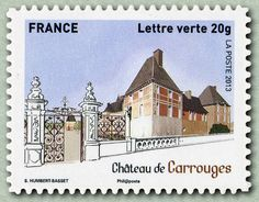 Sello: Castle Carrouges (Francia) (Heritage of France) Yt:FR A871