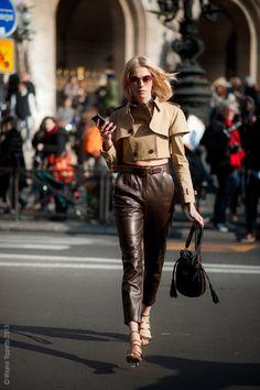 fashion-streetstyle:  (via Street Style Aesthetic» Blog Archive» Paris – Elena Perminova)