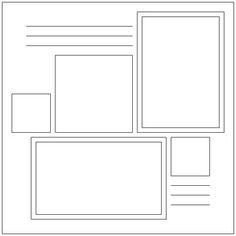 free printable scrapbook layout templates free scrapbook