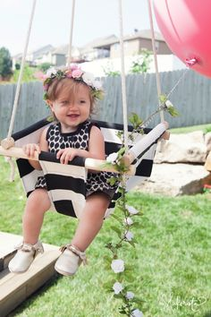 The Makerista: Milly Turns 1.  DIY swing.