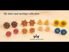 My Mini Stud Earrings Collection ⭐ Your favorite post earrings in their mini version - YouTube Beaded Earrings Patterns, Bead Patterns, Beaded Jewellery, Your Favorite, Stud Earrings, Beads, Mini, Videos, Handmade