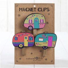 Set of 3 Magnetic Camper Clips