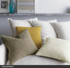 Linen Knit Pillows I Crate and Barrel