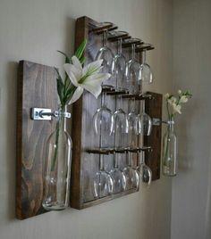 Image of: pallet wine glass rack rustic diy joy diy wood pallet wine rack Decor, Diy Wine Glass, Diy Wine Glass Rack, Diy Furniture, Wine Glass Rack, Home Decor, Rustic Home Decor, Diy Wine Rack, Rustic House