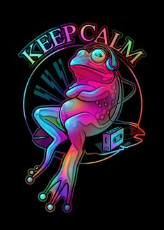 Trippy Wallpaper, Retro Wallpaper, Frog Wallpaper, Arte Do Hip Hop, Arte Dope, Frog Tattoos, Hip Tattoos, Peace Sign Art, Frog Pictures