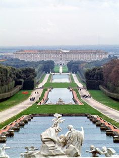 Reggia di Caserta, Italy - The Royal Palace of Caserta is a former royal residence in Caserta, southern Italy, constructed for the Bourbon kings of Naples. It was the largest palace and one of the largest buildings erected in Europe during the 18th century.