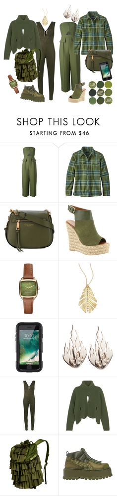 """""""Jumpsuits - Autumn Styling"""" by joannelibonati ❤ liked on Polyvore featuring C/MEO COLLECTIVE, Patagonia, Marc Jacobs, Mojo Moxy, Armani Exchange, Hueb, Griffin, Ring of Fire, Skiim and Antonio Berardi"""