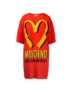 cabcad127331f Moschino  Cotton Fast Food T-Shirt Dress Food T