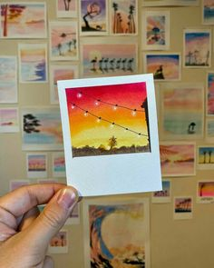 Your place to buy and sell all things handmade Small Canvas Paintings, Easy Canvas Art, Small Canvas Art, Cute Paintings, Mini Canvas Art, Easy Canvas Painting, Watercolor Drawing, Watercolor Print, Watercolor Paintings