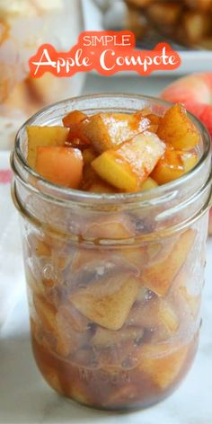 Freshly picked apples covered in cinnamon, butter and brown sugar are the simple ingredients you need to make this Simple Apple Compote! Easy Weeknight Meals, Easy Meals, Apple Compote Recipe, Gourmet Recipes, Sweet Recipes, Pear Compote, Cinnamon Butter, Apple Pear, Fall Baking