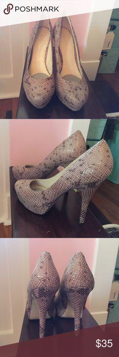 Selling this Snakeskin Enzo Angiolini Platform Pumps on Poshmark! My username is: ellewoods2006. #shopmycloset #poshmark #fashion #shopping #style #forsale #Enzo Angiolini #Shoes