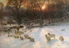 Beneath the Snow Encumbered Branches - Joseph Farquharson.