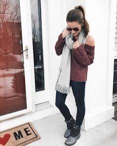 Gray fringe scarf. Winter outfit ideas     Shop my look: { http://liketk.it/2q0Hu } @liketoknow.it #liketkit