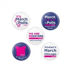 Women's March Chicago Button Pack