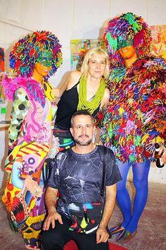 """Performance en la exposición de David Grau, con Noemie como """"curator"""", llamada: """"Pintando con la oscuridad"""" en el Atelier Güell Exhibitions, Lily Pulitzer, David, Dresses, Style, Fashion, Darkness, Vestidos, Swag"""