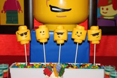 Easy Lego Marshmallow Pops | This easy treat is a fun pre-movie snack.