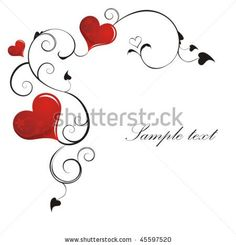 stock vector : Heart Valentines Day background