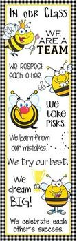 BEES Theme Classroom Decor/ Character Education Banner / Large / In Our Class… Classroom Bulletin Boards, Classroom Rules, Classroom Door, Classroom Displays, Kindergarten Classroom, Classroom Themes, School Classroom, Classroom Organization, Elementary Counseling