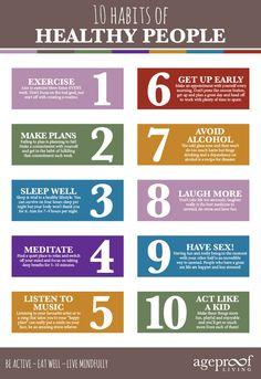 Top Ten Habits of Healthy People