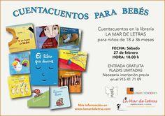"""Cuentacuentos en la La Mar de Letras a cargo de Volvoreta con una selección de """"Pequeñológuez"""" y una novedad: """"El libro que duerme"""""""
