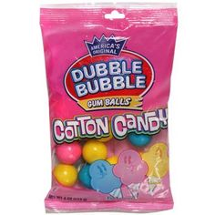 Dubble Bubble Cotton Candy Gum Balls, 4-oz. Bag
