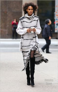 VS model Cindy Bruna doing fall how it should be done