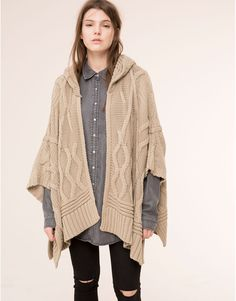 Pull&Bear - fall 2015 sweater cape