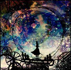 Ao longo de sua jornada ela apreciava as paisagens,sentia o momento,nunca estava solitária pois ele estava em seus pensamentos.