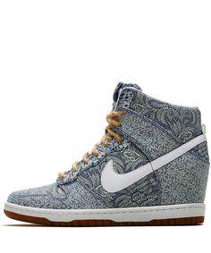 Nike Dunk Sky High Lora Vrijheid Print Lichtblauw Kroon Womens Wedge Sneakers