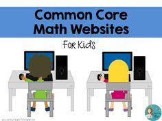 Daily 5 Math with technology website ideas. Journey of a Substitute Teacher: Common Core Math Websites: For Kids Math Work, Fun Math, Math Math, Multiplication, Fractions, Maths, Kids Math, Math Resources, Math Activities
