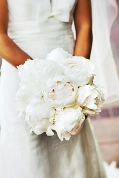 All white peony perfection: http://www.stylemepretty.com/2014/02/07/our-top-20-favorite-bouquets/