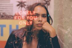 Carly Siciliano cinestill 800 35mm film neon sign double exposure lonely for you only
