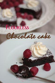 KakkuKatri: Jauhoton suklaakakku / Flourless chocolate cake