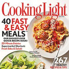 April 2012 Recipe Index. Magazine OnlineWine MagazineCooking Light ...