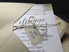 Nosso convite de casamento! Our wedding invitation! Designed by me. Letterpress print. Fonts: Asterism, Pablo, Mayonase. Birds pattern: Shutterstock.